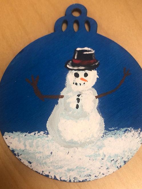 Snowman Ornament by Brian Stahl