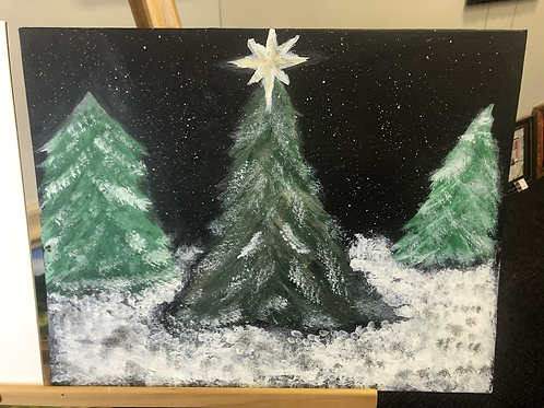 Snowy Christmas Trees by Brian Stahl