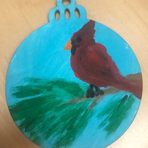 Cardinal Ornament by Brian Stahl