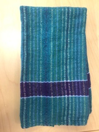 Handmade Cotton/Linen Kitchen Towel (teal purple)