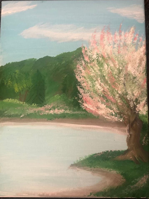 Spring in the Mountains (5x7) by Brian Stahl