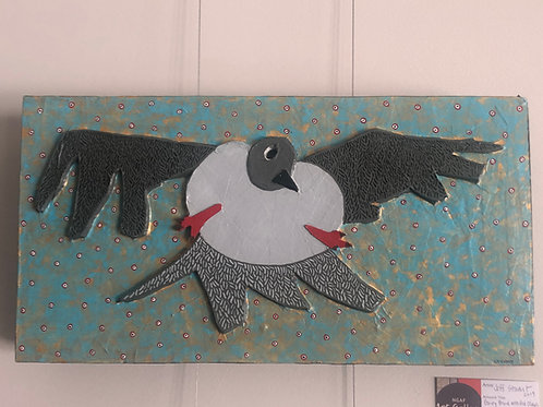 Grey Bird with Red Claws