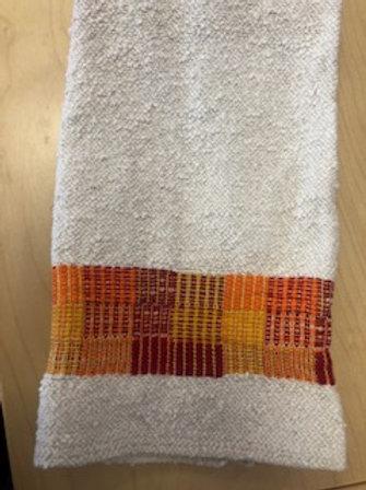 Handmade Cotton/Linen Kitchen Towel (orange)