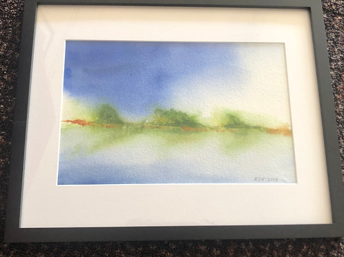 Original Watercolor by Martha Woodall - Landscape 1