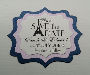 Parisien Save the date card