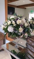 martini vase welcome flower arrangement