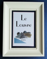Framed table names Paris theme
