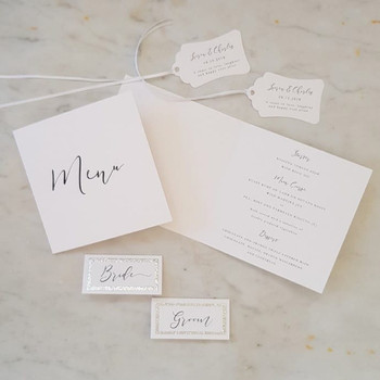 Elegant black and white modern calligrap