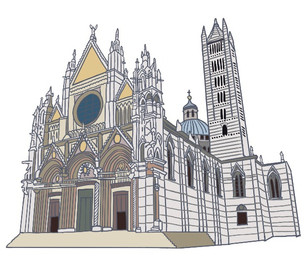 Siena Cathedral illustration