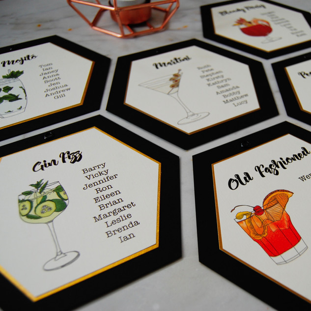 cocktail illustrated table planner