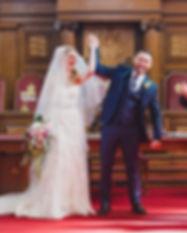 modern pastel trailing wedding bouquet.j