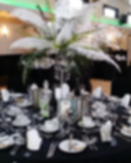 ostrich feather centrepiece for gatsby w