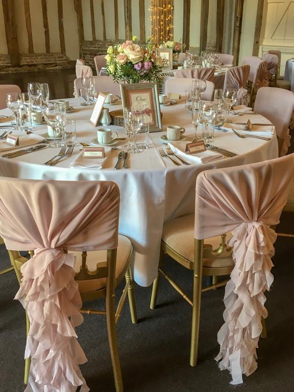 elegant barn wedding styling