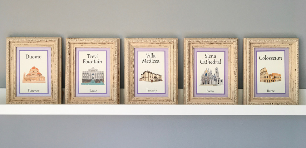 italian landmarks illustrated