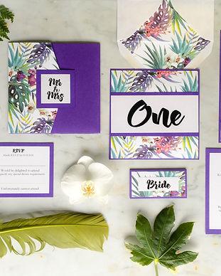 Tropical Summer Wedding Stationery