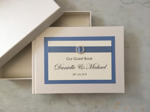 Ivory and cornflower blue guest book.jpg