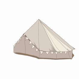 Teepee Glamping illustration