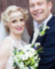 monochrome Gatsby spring wedding bouquet