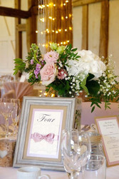 Rustic kraft, ivory and blush wedding ta