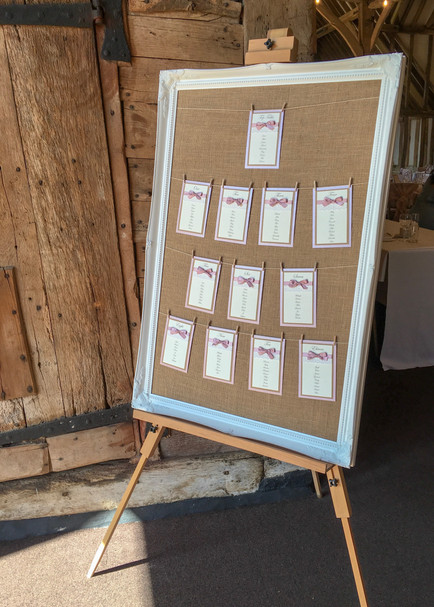 rustic table plan for barn wedding