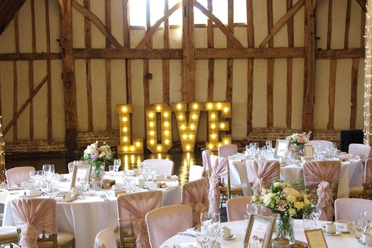 elegant barn wedding set up