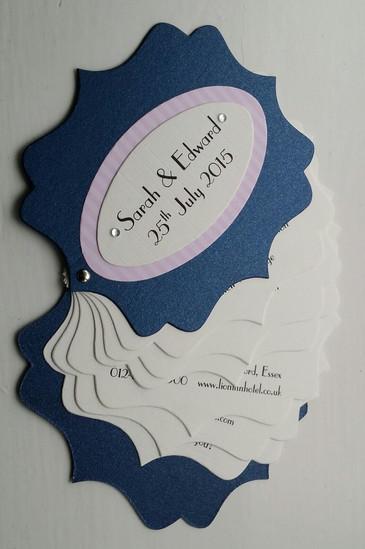 fan style parisian themed invitation