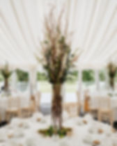 Woodland themed marquee centrepieces.jpg