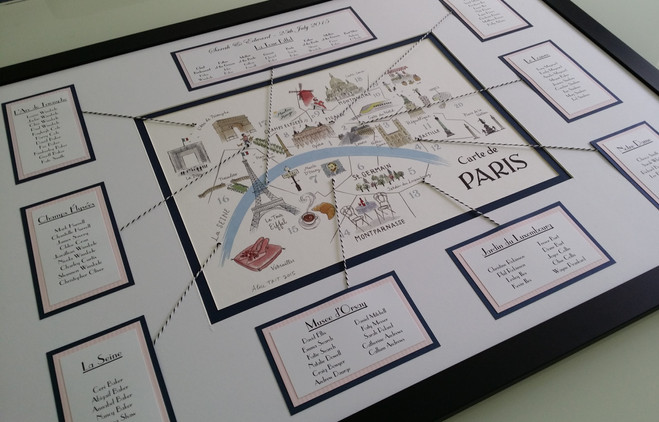 French table planner