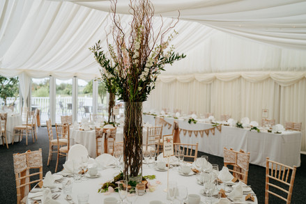 woodland style table arrangement