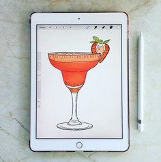 cosmopolitan cocktail illustration