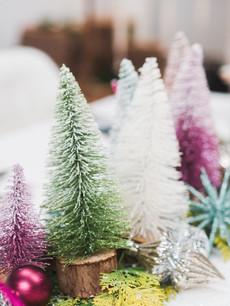 bottlebrush trees table decorations