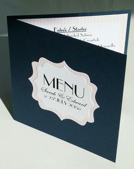 Paris themed folded menu