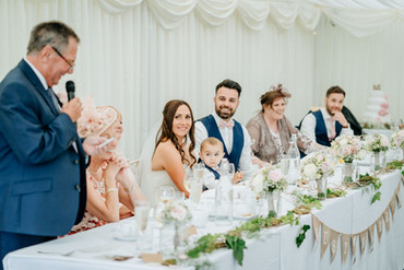 woodland styled top table