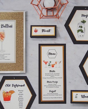 cocktail table stationery wedding