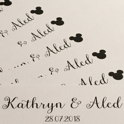 mouse themed wedding invitations