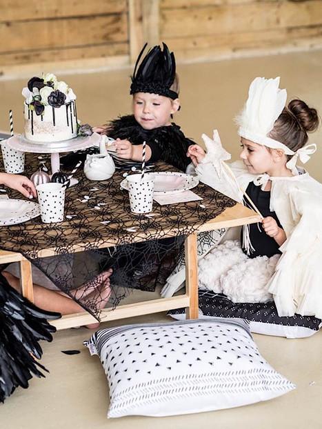 luxe black swan fancy dress