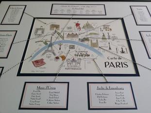 Paris themed table planner