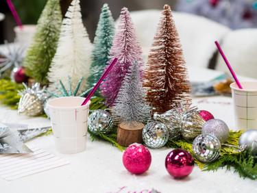bottle brush trees for christmas table