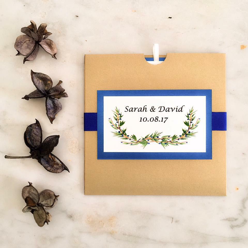 Pale gold wallet for summer woodland wedding