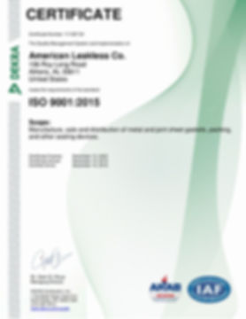 American Leakless Co. 9001 Renewal Cert