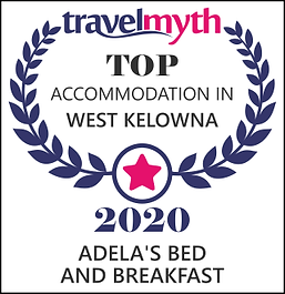 2020 Top Accommodation in West Kelowna Award