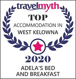 2020 Top Accommodation in West Kelowna Award