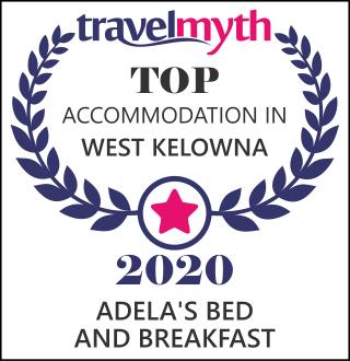 Top Accomodation in West Kelowna 2020 Award