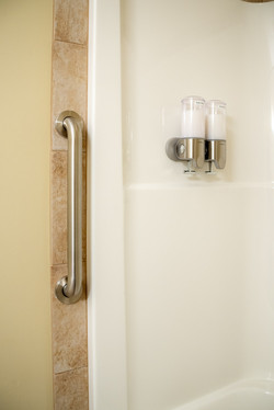 Grab Bar for your safety entering and exiting the tub/shower.