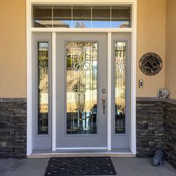 Adela's front door with sign