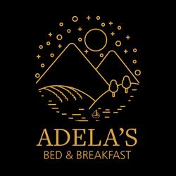 Adela's Logo (Gold on Black)