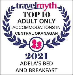 2021 Award - Top 10 Adult Accommodations - C. Okanagan
