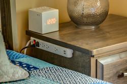 Bedside USB and 120V outlets