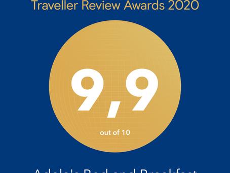 2020 Booking.com Traveller Review Award