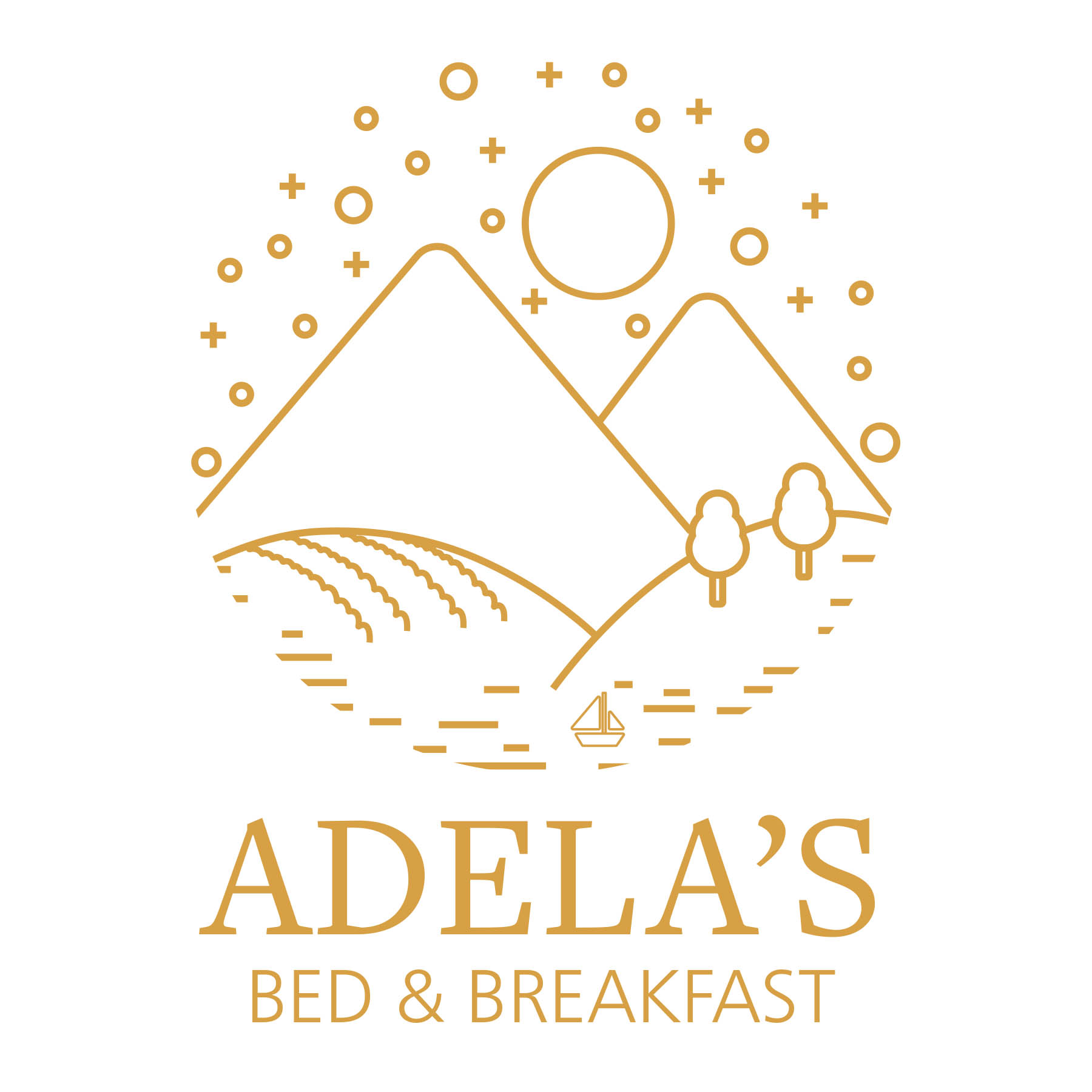 Adela's Logo (Gold on White)